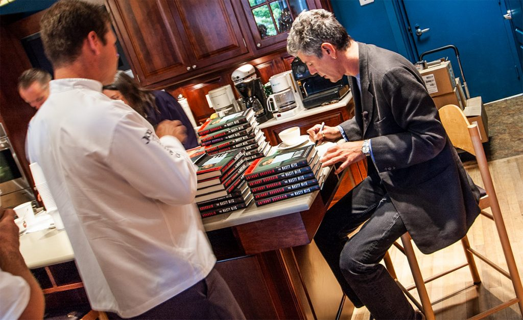 Anthony Bourdain at a book signing