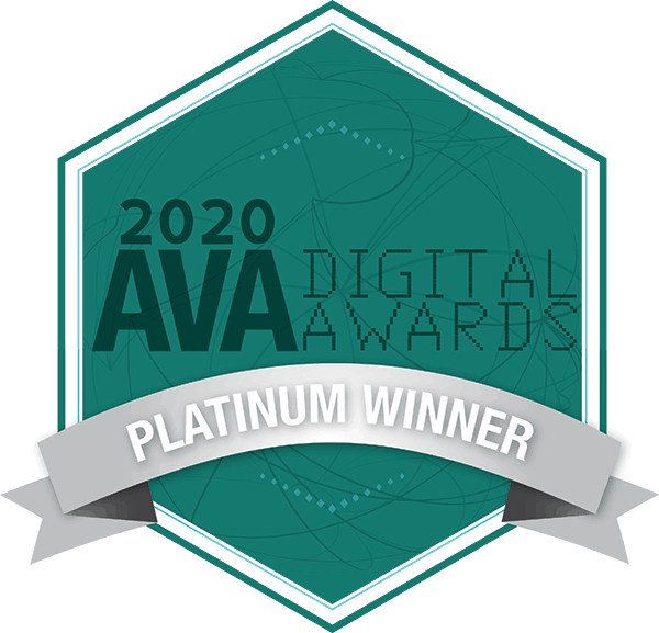 2020 AVA Digital Awards, Platinum Winnter.